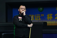 31st October 2019, Yushan, Jiangxi Province, China; Mark Allen of Northern Ireland reacts during the round of 16 match against David Gilbert of England at 2019 Snooker World Open in Yushan