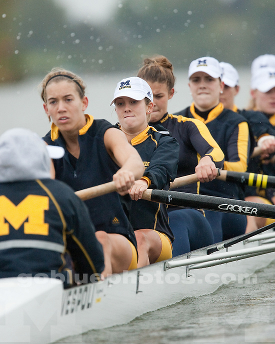 10/3/09 Women's Rowing vs. Ohio State at Belleville Lake, MI..