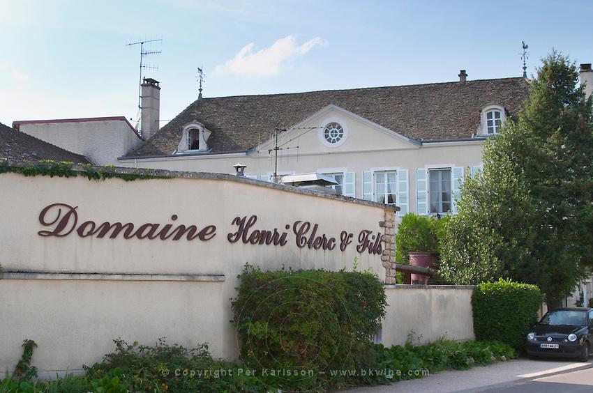Winery building. Domaine Henri Clerc. Puligny Montrachet, Cote de Beaune, c d'Or, Burgundy, France