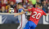 Harrison, N.J. - Friday September 01, 2017:   Clint Dempsey, Christian Pulisic during a 2017 FIFA World Cup Qualifying (WCQ) round match between the men's national teams of the United States (USA) and Costa Rica (CRC) at Red Bull Arena.