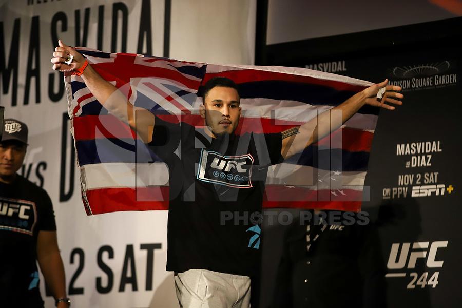 Nova York, EUA, 01.10.2019 - UFC-NOVA YORK - durante pesagem UFC 244no Madsion Square Garden na cidade de Nova York nesta sexta-feira, 01. A luta acontece no sábado 02. (Foto: Vanessa Carvalho/Brazil Photo Press/Folhapress)