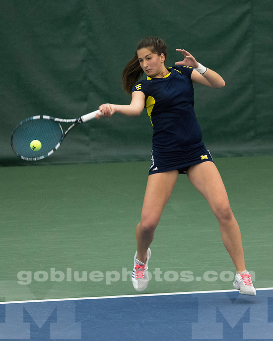 The University of Michigan women's tennis team beat No. 12 Nebraska, 5-2, at the Varsity Tennis Center in Ann Arbor, Mich., on April 13, 2013.