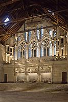 Europe/France/Poitou-Charentes/86/Vienne/Poitiers:La salle des pas perdus avec sa cheminée de l'Hôtel de Justice- Palais des Comtes de Poitou-Ducs d'Aquitaine- Palais de Justice