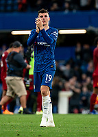 Mason Mount of Chelsea during the Premier League match between Chelsea and Liverpool at Stamford Bridge, London, England on 22 September 2019. Photo by Liam McAvoy / PRiME Media Images.