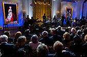 """United States President Barack Obama makes opening remarks during an """"In Performance at the White House"""" event in the East Room of the White House in Washington, D.C, U.S., on Wednesday, October 14, 2015. The event, """"A Celebration of American Creativity,"""" celebrates the 50th anniversary of the National Foundation on the Arts and the Humanities Act. <br /> Credit: Andrew Harrer / Pool via CNP"""