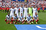 The England football team pose for a photo ahead of kick off at the Stade Bollaert-Delelis in Lens, France this afternoon during their Euro 2016 Group B fixture against Wales.
