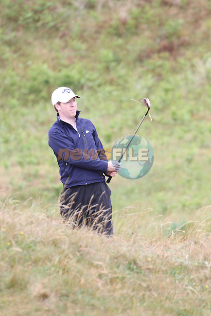 Gareth Bohill (Co.Louth)  on the 3rd Hole, Day 2 at the East of Ireland Amateur Open Championship 2011 in Co.Louth Golf Club....(Photo credit should read Jenny Matthews www.newsfile.ie)....This Picture has been sent you under the conditions enclosed by:.Newsfile Ltd..The Studio,.Millmount Abbey,.Drogheda,.Co Meath..Ireland..Tel: +353(0)41-9871240.Fax: +353(0)41-9871260.GSM: +353(0)86-2500958.email: pictures@newsfile.ie.www.newsfile.ie.