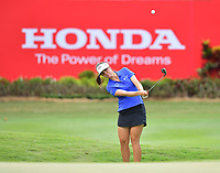 PATTAYA, THAILAND - FEBRUARY 22: Emma Talley of USA pitching onto the 18th green during the second round of the Honda LPGA Thailand 2019 at Siam Country Club Pattaya (Old Course), Pattaya, Thailand on February 22, 2019.<br /> .<br /> .<br /> .<br /> (Photo by: Naratip Golf Srisupab/SEALs Sports Images)<br /> .<br /> Any image use must include a mandatory credit line adjacent to the content which should read: Naratip Golf Srisupab/SEALs Sports Images