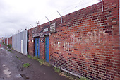 23/06/2000 Blackpool FC Bloomfield Road Ground..Home Kop entrance with localised grafitti.....© Phill Heywood.