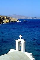 - Naxos island (Cyclades), orthodox votive chapel in the Hilia Vrissi bay..- isola di Naxos (Cicladi), cappella votiva ortodossa nella baia di Hilia Vrissi..