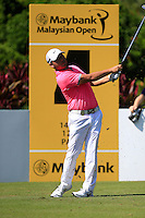 Richard T Lee (CAN) on the 4th tee green during Round 3 of the Maybank Malaysian Open at the Kuala Lumpur Golf & Country Club on Saturday 7th February 2015.<br /> Picture:  Thos Caffrey / www.golffile.ie