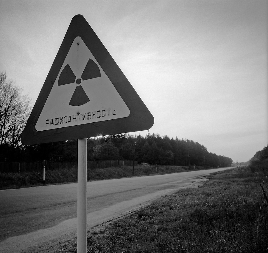 Chernobyl, Ukraine, Ocober 1995..The explosion at the Chernobyl Nuclear Power Plant on April 26 1986 was the worst nuclear accident in history..Abandoned & closed radioactive zone around the plant.