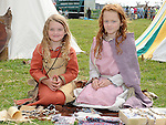 Mairead Burns and Shannon McBride pictured at the Annagassan Viking Festival. Photo: Colin Bell/pressphotos.ie