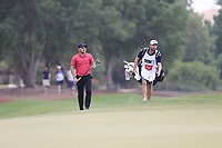 Jordan Smith (ENG) on the 15th green during the 3rd round of the DP World Tour Championship, Jumeirah Golf Estates, Dubai, United Arab Emirates. 17/11/2018<br /> Picture: Golffile | Fran Caffrey<br /> <br /> <br /> All photo usage must carry mandatory copyright credit (© Golffile | Fran Caffrey)