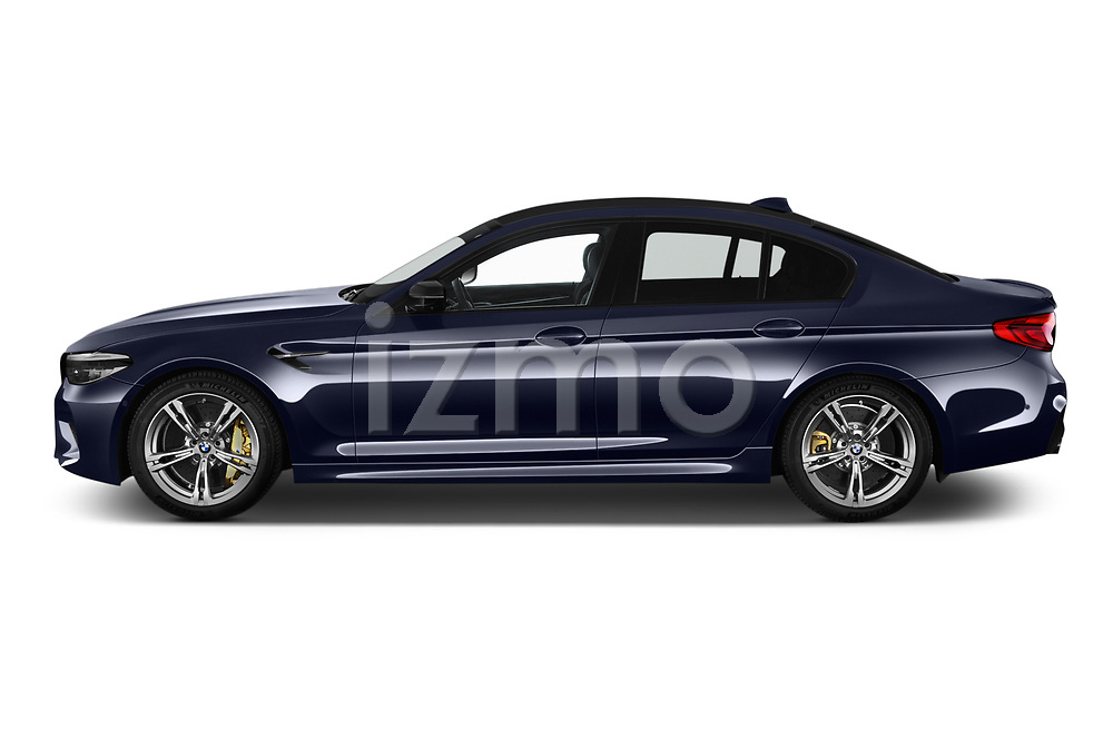 Car driver side profile view of a 2019 BMW M5 Competition Base 4 Door Sedan