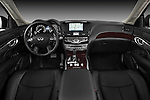 Straight dashboard view of a 2011 Infiniti M37S Sedan