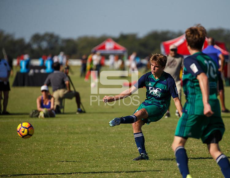 LAKEWOOD RANCH, FL: 2017 Development Academy Winter Showcase & Nike International Friendlies at Premier Sports Campus in Lakewood Ranch, Fla., on December 3, 2017. (Photo by Casey Brooke Lawson)