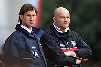 Tony Adams, Manager of Wycombe Wanderers and previously captain of Arsenal FC and England stands alongside his assistant, Pete Cawley during Bournemouth vs Wycombe Wanderers, Nationwide League Division Two Football at Dean Court on 6th March 2004