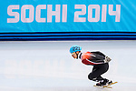 Tianyu Han of Hong Kong during the Short Track Speed Skating as part of the 2014 Sochi Olympic Winter Games at Iceberg Skating Palace on February 10, 2014 in Sochi, Russia. Photo by Victor Fraile / Power Sport Images