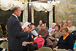 Oct. 23, 2012 - Merrick, New York, U.S. - Judge PETER B. SKELOS, New York Supreme Court Justice running for re-election, spoke at the 4th Annual Meet the Candidate Night held by Merrick civic associations. After each candidate for Congress, New York State Senate, Assembly, and courts spoke to the audience, community members could ask additional questions in the lobby.