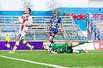 S&ouml;dert&auml;lje 2014-06-07 Fotboll Superettan Assyriska FF - IK Sirius :  <br /> Sirius m&aring;lvakt Andreas Andersson r&auml;ddar en m&aring;lchans f&ouml;r Assyriskas Admir Aganovic <br /> (Foto: Kenta J&ouml;nsson) Nyckelord:  Assyriska AFF S&ouml;dert&auml;lje Fotbollsarena Hammarby Sirius IKS