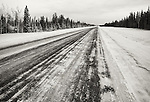 The MacKenzie highway between Yellowknife and Enterprise in Northwest Territories, Canada.