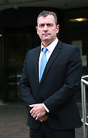 COPY BY TOM BEDFORD<br /> Pictured: Peter Collins, Detective Inspector, Major Crime, for South Wales Police, outside Swansea Crown Court. Monday 09 October 2017<br /> Re: Burglar Keiran Wathan has been jailed for 18 years by Swansea, Crown Court, for killing a woman and injuring her husband after they tried to stop him fleeing their home.<br /> 24 year old Wathan, of Ystalyfera, south Wales, used a kinife to attack Sheila and Wayne Morgan after breaking into their home in the Morriston area of Swansea, Wales.<br /> Mrs Morgan, 71, later died from sepsis after her wounds became infected.<br /> Wathan admitted manslaughter, wounding with intent and possessing a bladed article, at Swansea Crown Court.