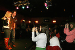 General Hospital's Bradford Anderson and Julie Berman with fans at the Brokerage Comedy Club on February 21, 2009 in Bellmore, New York to see their fans as they sign and pose for photos, do a show for the fans and Bradford plays Simon Says with his fans. ALSO Bradford sang for all and he was great. (Photo by Sue Coflin/Max Photos)