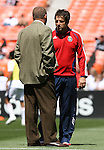 06 May 2007: Chivas head coach Preki (r) and DC head coach Tom Soehn (l) chat before the game.  DC United defeated CD Chivas USA 2-1 at RFK Stadium in Washington, DC in a Major League Soccer 2007 regular season game.
