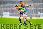 Conor O'Shea South Kerry in Action against Mark Crowley Kenmare in the County Senior Football Semi Final at Fitzgerald Stadium Killarney on Sunday.