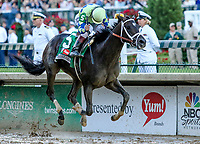 LOUISVILLE, KY - MAY 06: Always Dreaming #5, ridden by John Velazquez, wins the Kentucky Derby on Kentucky Derby Day at Churchill Downs on May 6, 2017 in Louisville, Kentucky. (Photo by Candice Chavez/Eclipse Sportswire/Getty Images)