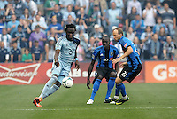 KANSAS CITY, KS - June 1, 2013:<br /> Kei Kamara (23) forward Sporting KC in action.<br /> Montreal Impact defeated Sporting Kansas City 2-1 at Sporting Park.