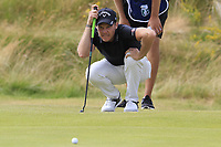 Danny Willett (ENG) on the 18th green during Sunday's Final Round of the 2018 Dubai Duty Free Irish Open, held at Ballyliffin Golf Club, Ireland. 8th July 2018.<br /> Picture: Eoin Clarke   Golffile<br /> <br /> <br /> All photos usage must carry mandatory copyright credit (&copy; Golffile   Eoin Clarke)