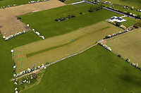 An aerial photo of  a farmer making silage near Killarney.<br /> Picture by Don MacMonagle