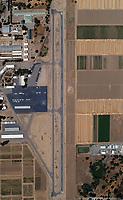 aerial map view of University Airport (EDU) at the University of California at Davis, Davis, California