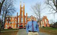 DR. Richard Fluck, Associate Dean of the Faculty, outside the Old Main on the campus of Franklin & Marshall College Friday, Dec. 3, 2010 in Lancaster, Pa. (Bradley C Bower/KeyStone Edge)