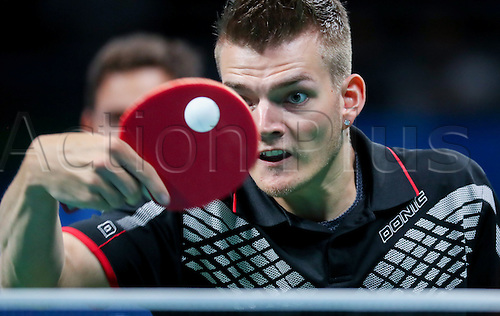 11.09.2016. Rio de Janeiro, Brazil.  Thomas Schmidberger of Germany competes against Panfeng Feng of China in table tennis Men's Singles - Class 3 Gold Medal Match during the Rio 2016 Paralympic Games, Rio de Janeiro, Brazil, 11 September 2016.