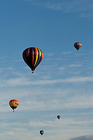 Hot air balloons rise into the sky during the annual Carolina BalloonFest, held each fall in Statesville, NC. Photos were taken at the October 2008 event.