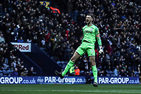 Preston North End's Declan Rudd celebrates scoring his sides First goal<br /> <br /> Photographer Rachel Holborn/CameraSport<br /> <br /> The EFL Sky Bet Championship - Preston North End v Blackburn Rovers - Saturday 24th November 2018 - Deepdale Stadium - Preston<br /> <br /> World Copyright © 2018 CameraSport. All rights reserved. 43 Linden Ave. Countesthorpe. Leicester. England. LE8 5PG - Tel: +44 (0) 116 277 4147 - admin@camerasport.com - www.camerasport.com