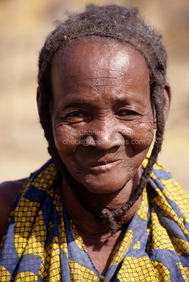 Delaquara, Niger. Old Fulani Woman.