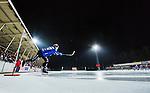 Uppsala 2014-11-15 Bandy Elitserien IK Sirius - IFK V&auml;nersborg :  <br /> Sirius Joel Wigren sl&aring;r ne h&ouml;rna under matchen mellan IK Sirius och IFK V&auml;nersborg <br /> (Foto: Kenta J&ouml;nsson) Nyckelord:  Bandy Elitserien Uppsala Studenternas IP IK Sirius IKS IFK V&auml;nersborg utomhus exteri&ouml;r exterior
