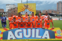 ENVIGADO- COLOMBIA, 21-04-2019.Formación del Envigado ante el Unión Magdalena durante partido por la fecha 17 de la Liga Águila I 2019 jugado en el estadio Polideportivo Sur de la ciudad de Medellín. / Team of Envigado agaisnt of Union Magdalena during the match for the date 17 of the Liga Aguila I 2019 played at Polideportivo Sur stadium in Medellin  city. Photo: VizzorImage / Leon Monsalve/ Contribuidor