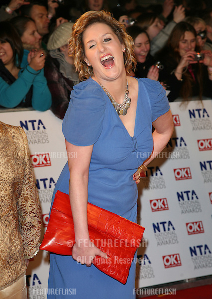 Bronagh Waugh arriving for the National Television Awards 2011, at the O2, London. 26/01/2011  Picture By: Alexandra Glen / Featureflash