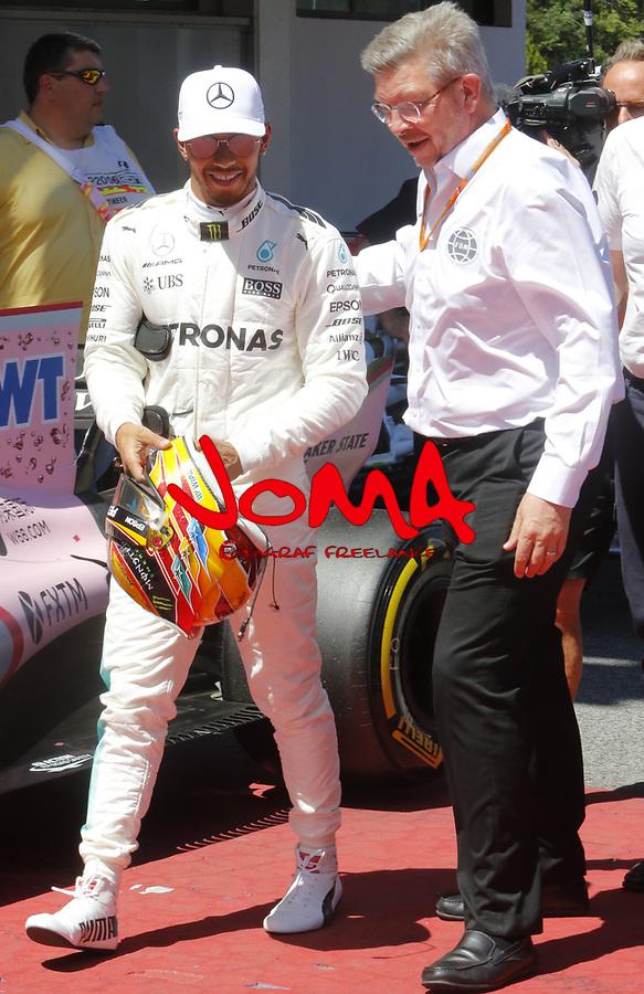 Lewis Hamilton (GBR) Mercedes-Benz F1 W08 Hybrid at Formula 1 World Championship,FIA, Spanish Grand Prix, Qualifying, Barcelona. 13.05.2017