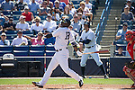 Didi Gregorius (Yankees),<br /> MARCH 4, 2015 - MLB : Didi Gregorius of the New York Yankees at bat during a spring trainig baseball game against the Philadelphia Phillies at George M. Steinbrenner Field in Tampa, Florida, United States. (Photo by Thomas Anderson/AFLO) (JAPANESE NEWSPAPER OUT)