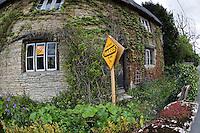 Liberal Democrats sign outside village house.©shoutpictures.com..john@shoutpictures.com.