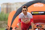 Nicolas Edet (FRA) Cofidis arrives at sign on before the start of Stage 4 of La Vuelta 2019 running 175.5km from Cullera to El Puig, Spain. 27th August 2019.<br /> Picture: Eoin Clarke | Cyclefile<br /> <br /> All photos usage must carry mandatory copyright credit (© Cyclefile | Eoin Clarke)