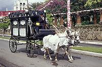 Horse-drawn hearse  in Granada, Nicaragua