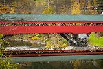 The Taftsville covered bridge in Taftsville, Vermont, USA