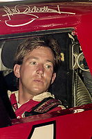 DAYTONA BEACH, FL - JUL 2, 1994:  John Andretti sits in his race car before the Pepsi 400 NASCAR Winston Cup race at Daytona International Speedway, Daytona Beach, FL. (Photo by Brian Cleary/www.bcpix.com)